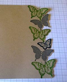 Julie's Japes - A Top UK Independent Stampin' Up! Demonstrator : Fancy Butterfly card tutorial!