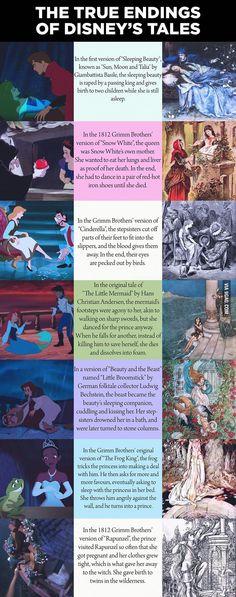 true endings of Disney's Princess stories...