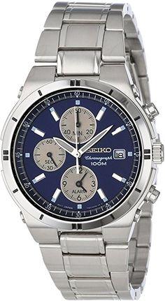Amazon.com: Seiko Men's SNA695 Alarm Chronograph Silver-Tone Watch: Seiko: Watches