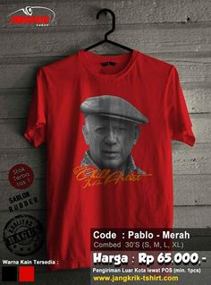 """READY STOCK """"Pablo Picasso""""   cotton combed 30s   size S-XL   IDR 65.000   Order: SMS 0877.3862.6309 BBM 52820605"""