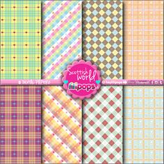 Digital paper - Instant Download - Stationery Printable - Kawaii - Scrapbook supplies - Confetti - Scrapbooking - Scottish - Etsy - Lilipops - DIY