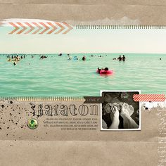 stunning beach pages by Katalin Thurzo This Magic Moment, In This Moment, Scrapbook Page Layouts, Scrapbook Pages, Digital Scrapbooking, Scrapbooking Ideas, Lake Water, Big Picture, Beautiful Places