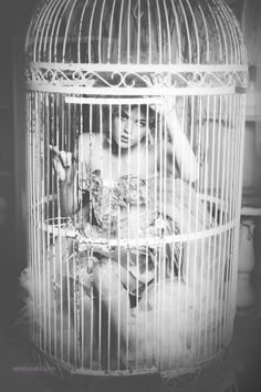 "*,,,just a bird in a gilded cage..*  ""Marie"" by Emily Soto. S)"