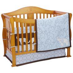 "Carter's Blue Elephant 4-Piece Crib Bedding Set - Carters - Babies ""R"" Us"