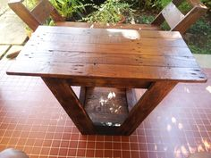 Pallets chair and bench