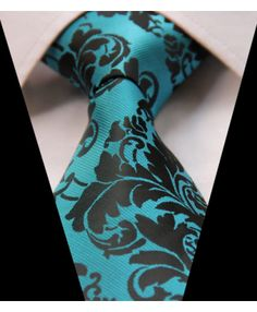 Aqua & Black Floral Tie. It's about more than golfing,  boating,  and beaches;  it's about a lifestyle! www.PamelaKemper.com KW homes for sale in Anna Maria island Long Boat Key Siesta Key Bradenton Lakewood Ranch Parrish Sarasota Manatee