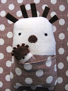 thinking of giving this to Henry when baby brother comes! DIY Hedgehog and Baby Softie :: tutorial and pattern-