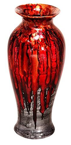 Heather Ann Creations Decorative Ceramic Vase 88 D x 212 H Traditional Round Vase Water Tight and Porcelain Glazed in Copper Brown Red and Grey >>> Visit the image link more details. (This is an affiliate link and I receive a commission for the sales) Ceramic Decor, Ceramic Vase, Round Vase, Glazed Ceramic, Red And Grey, Vases Decor, Decorative Accessories, Porcelain, Pottery