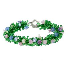 Treasures in the Grass Bracelet | Fusion Beads Inspiration Gallery #mothersday