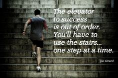 The elevator to success it out of order.
