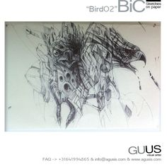 """BiC sketch """"Bird02"""" via Guus Timmerman. Click on the image to see more!"""