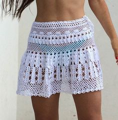 Crochet Skirt / White Skirt by elenamayght on Etsy