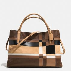 The The Large Soft Borough Bag In Patchwork Haircalf from Coach
