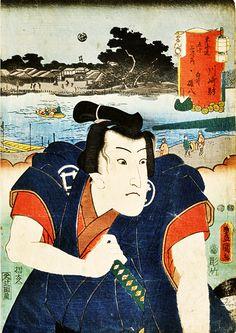 役者浮世絵で人気のあった 鈴ヶ森の白井権八と幡随院長兵 11点