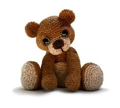Theo the Teddy pattern - AmigurumiPatterns.net