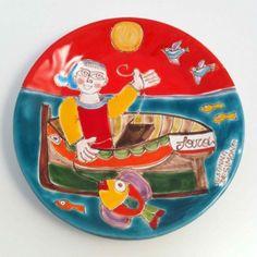 Italian Pottery, Palermo, Plates, Tableware, Licence Plates, Dishes, Dinnerware, Plate, Tablewares