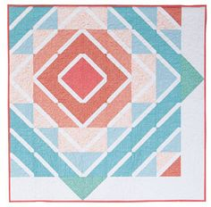 Adorn that blank wall in your home with this cute and simple wall hanging! The Sew Radiant Quilt Kit from Connecting Threads