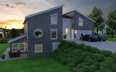 Hustypen Bømlo, moderne enebolig i  tradisjonell arkitektur, boligen har egen leilighet