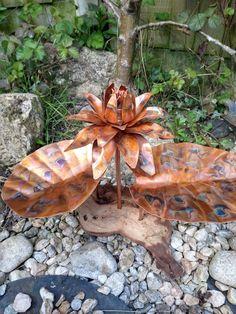 Metal Sculpture Artists, Metal Sculptures, Copper Wall Art, Copper Gifts, Home And Garden, Flowers, Beautiful, Decor, Decoration