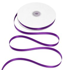 "3/8"" Purple Double Face Satin Ribbon - 50 Yards"