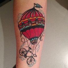 Hot Air Balloon Ride Tattoo