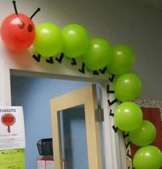 Very Hungry Caterpillar made of balloons