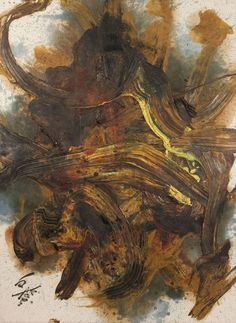 Kazuo Shiraga - Shugongoshin, oil on canvas, 1987