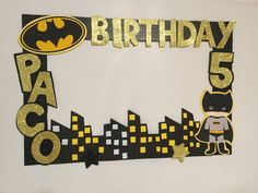 Custom Photo Frame Batman PhotoBooth Party Birthday Superhero Decoration - Be Batman - Ideas of Be Batman - Batgirl Party, Lego Batman Party, Superhero Birthday Party, 4th Birthday Parties, Boy Birthday, Lego Batman Birthday, Birthday Ideas, Foto Batman, Marcos Para Fiestas