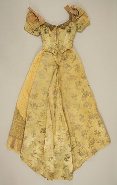 Silk evening dress by Emile Pingat (French, active 1860–96), 1891–93.  The Metropolitan Museum of Art