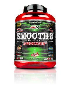 AMIX™ Smooth-8™ Protein je směs proteinů, získaná z 8 zdrojů bílkovin pro udržení a nárůst svalové hmoty, doplněná komplexem trávicích enzymů DigeZyme®. Stevia, Protein, Smooth, Food, Essen, Meals, Yemek, Eten