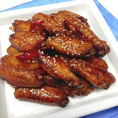Chicken Menu, Korean Food, Chicken Wings, Snacks, Dishes, Meat, Cooking, Recipes, Party