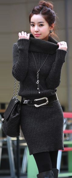 Turtle neck sweater dress, #turtleneck, #sweaterdress, #winterfashions