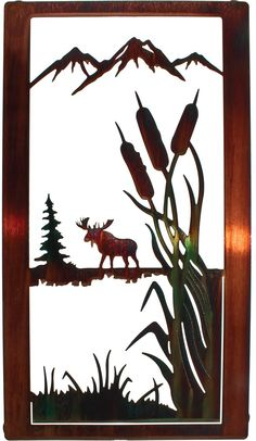 Artwork by Neil Rose. Measurements: width x height Color Finish: Color Wash Crafted by artisans using laser cut metal with a unique heat transfer finishing process. Metal color variations w Scroll Saw Patterns, Wood Patterns, Metal Walls, Metal Wall Art, Lampe Decoration, Laser Cut Metal, Metal Projects, Hanging Wall Art, Nature Scenes