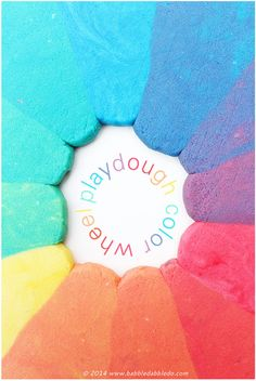 Learn how to make playdough and explore color theory by creating a rainbow play dough color wheel. School Art Projects, Craft Projects For Kids, Arts And Crafts Projects, Diy For Kids, Craft Ideas, Activity Ideas, Kids Fun, Kids Crafts, Creative Activities For Kids