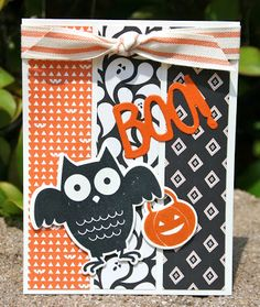 Krystal's Cards: Stampin' Up! Howl-o-ween Online Class and B1G2 #stampinup #krystals_cards #howloweentreats #onlinestampclass #halloweencard #papercrafts #handstamped #cardmaking #bootoyou #stampsomething #sendacard