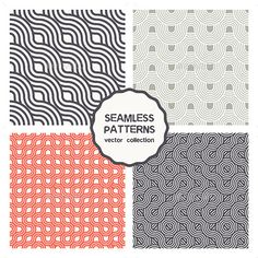 Vector Set of Four Geometric Seamless Patterns — Photoshop PSD #kit #template • Available here → https://graphicriver.net/item/vector-set-of-four-geometric-seamless-patterns/9677368?ref=pxcr
