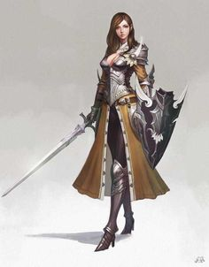 Tagged with art, fantasy, dnd, roleplay, dungeons and dragons; Fantasy Females (various artists) Fantasy Girl, Fantasy Female Warrior, Female Armor, Female Knight, 3d Fantasy, Fantasy Armor, Fantasy Women, Medieval Fantasy, Lady Knight