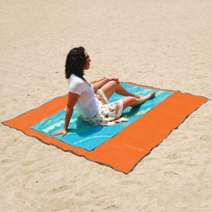 Sandless beach mat! Repels sand, dust and water! Amazon has it for half the price.