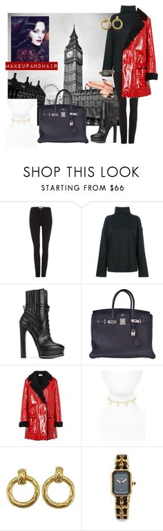 """""""Vacation style"""" by chantelle3798 ❤ liked on Polyvore featuring Paige Denim, SJYP, Casadei, Hermès, Christopher Kane, Frasier Sterling, Chanel and vacationstyle"""