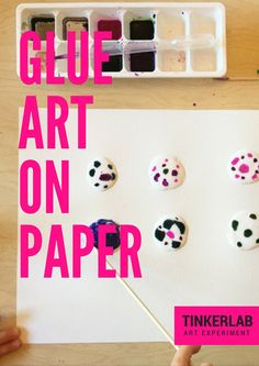 GLUE ART ON PAPER