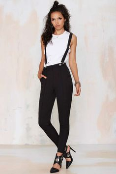 Mean Business Suspender Pants