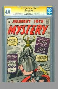 First appearance of Loki! CGC SS 4.0 signed by Stan Lee. #stanlee #thor #loki #cgcss