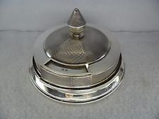 Art Deco Sterling Solid Silver Rotating Match Dispenser, Birmingham 1928