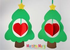 decorazioni di natale da stampare Christmas Artwork, Christmas Crafts For Kids, Winter Christmas, Holiday Crafts, Christmas Time, Christmas Decorations, Christmas Ornaments, Preschool Crafts, Kids Crafts