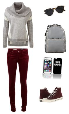 """Untitled #225"" by liakdn ❤ liked on Polyvore featuring Converse, Valentino and Christian Dior"