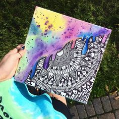 Behind The Scenes By trippydraws Simple Canvas Paintings, Small Canvas Art, Diy Canvas Art, Hippie Painting, Trippy Painting, Mandala Drawing, Mandala Art, Trippy Drawings, Art Drawings