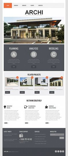 Moto CMS HTML #template // Regular price: $139 // Unique price: $8500 // Sources available: #Architecture #Moto #CMS #HTML