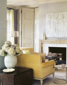 Part II - The Most Gorgeous Stone Fireplace Mantels Ever! - laurel home | classic Greek Key fireplace mantel | interior design by Thomas O'Brien