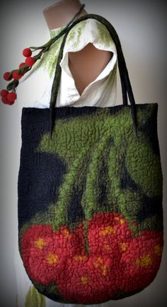Felted tote bagfelted bagfelted pursebags and by Gariana on Etsy