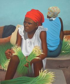 The best selection of haitian art directly from Expressions art Gallery , located in Petion-Ville, Haiti. Caricatures, Jamaican Art, Tropical Art, Tropical Paintings, Haitian Art, Caribbean Art, Black Artwork, Afro Art, African Diaspora